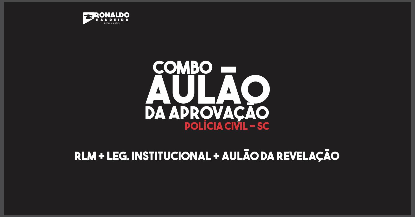 COMBO AULÃO DA APROVAÇÃO ( RLM + LEG. INSTITUCIONAL)